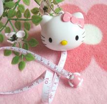 Kawaii 1Piece Hello Kitty Tape Ruler - Kid's School Stationery Measure Tape Tapeline Tapes Keychain Tape Ruler(China (Mainland))