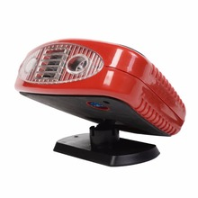 New 12 Volt DC Auto Portable Heater Fan Defroster with Light Electric Car Heater Free Shipping AT3668(China (Mainland))