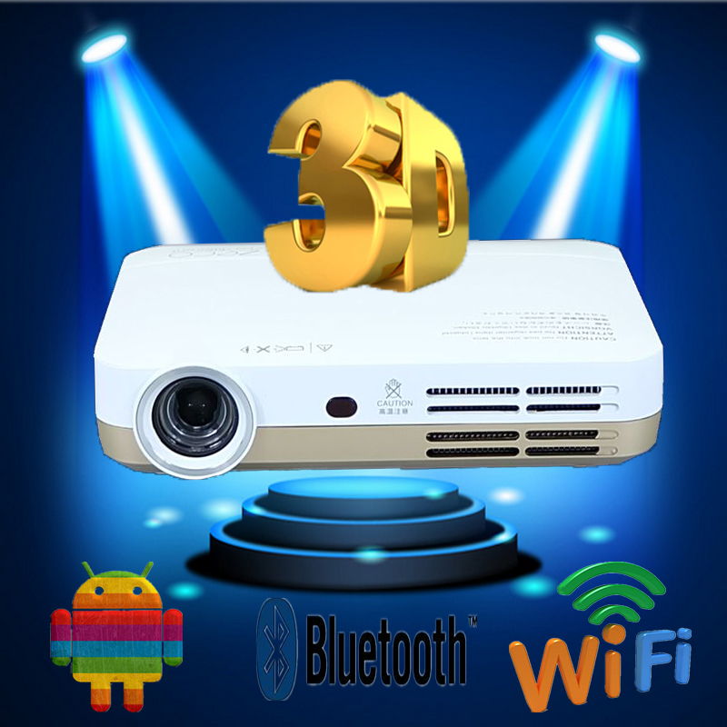 Wisomee new brand smart projector 3D DLP Android 4.2 Bluetooth 4.0 + wifi1800ANSI AUTO keystone1G RAM+ 32G ROM for home theater(China (Mainland))
