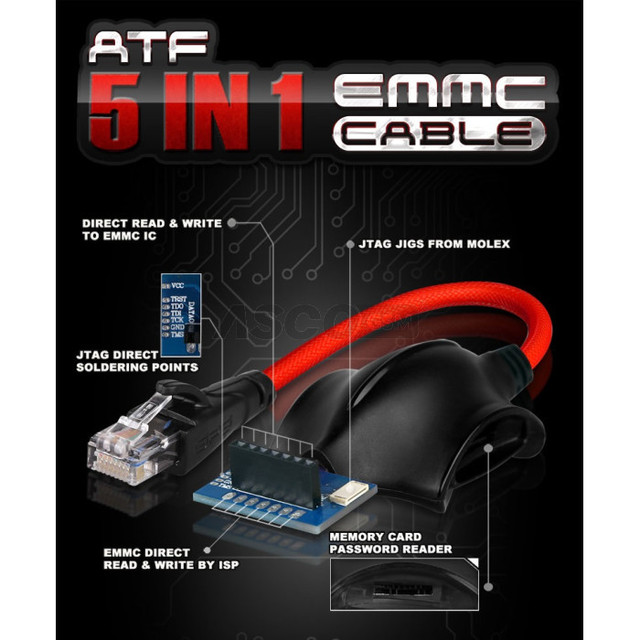 ATF 5 in 1 EMMC Cable by GPG Free ship 640x640