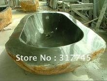 100%natural stone tubs,88'' L about natural outside, it is idea way to give your bathroom a look. unique handmake craft(China (Mainland))