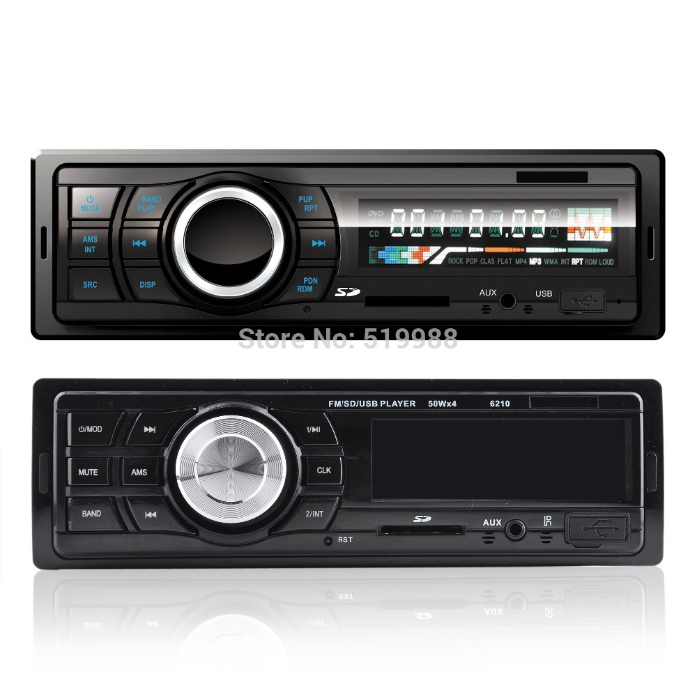 CAR RADIO AUDIO HIFI Player MP3 USB SD slot supports FM Radio AUX 4x 50W LED SCREEN New - The Shop of Happiness store
