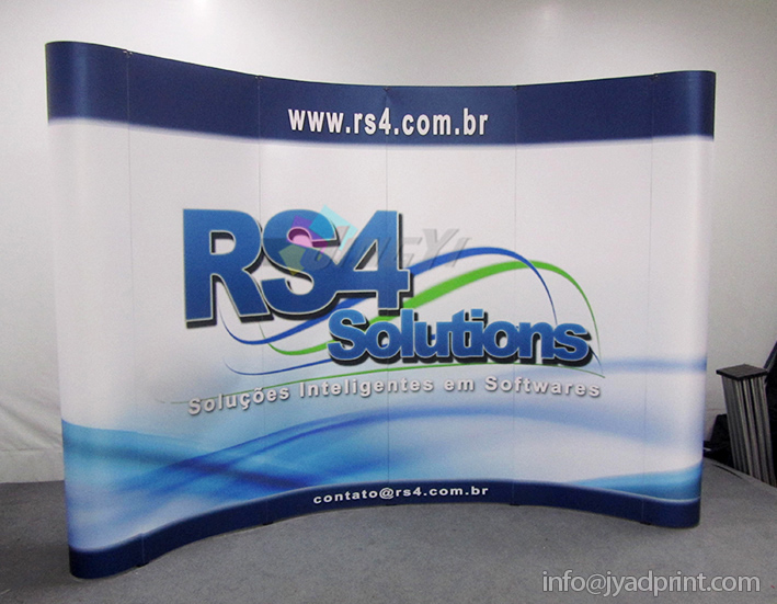 Quality Trade Show Combo (a 3X4 POP up backdrop + two 100X200CM roll up banner + a POP up table display(China (Mainland))