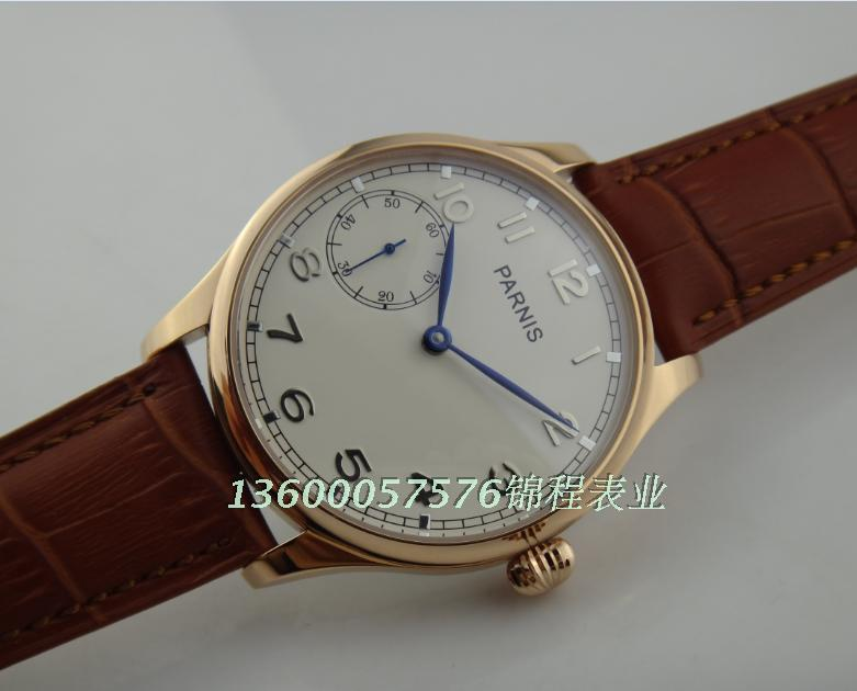 PARNIS sea gull ST3600 gooseneck core rose gold watchcase onion manual mechanical mens watch with brown strap<br><br>Aliexpress