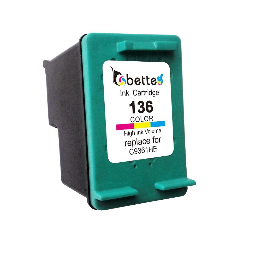 1PK, Ink Cartridge for HP 136 C9361HE Color hp136 HP Officejet 6313 Deskjet 5440 Photosmart 6540 6548 7830 PSC 1510 1513 1513s<br><br>Aliexpress