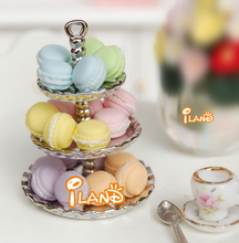 Free Shipping 1/12 Dollhouse Miniature Food Dessert Tea Time Snack French  20PCS(China (Mainland))