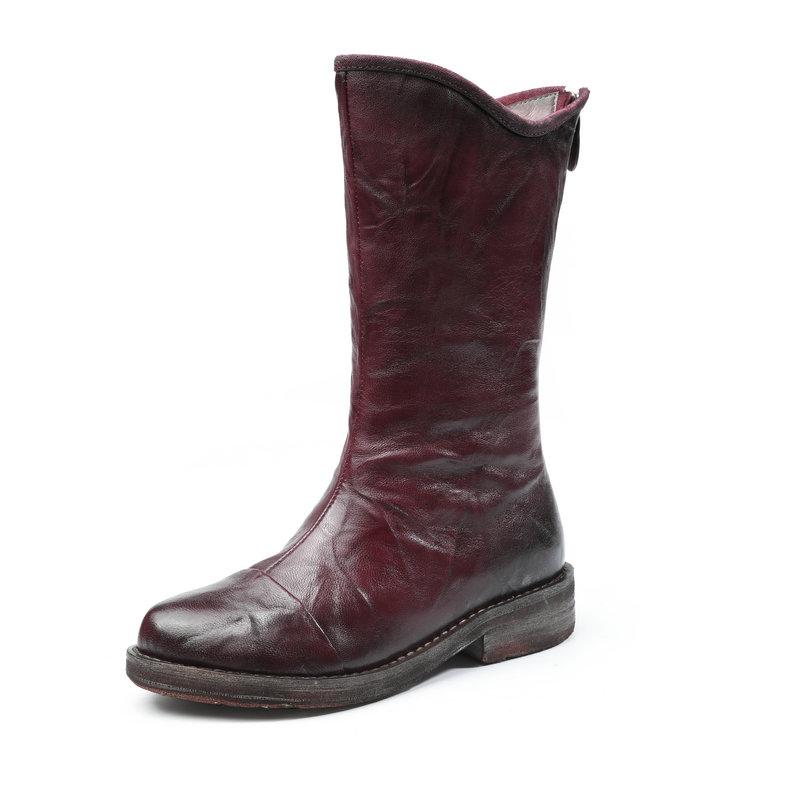 2017 new Autumn / winter women boots sheep shoes woman Big sizes 35-40 High quality shoe for womens Mid-Calf boots bota feminina(China (Mainland))