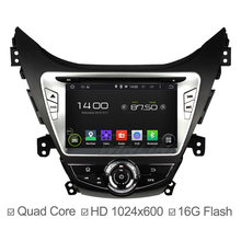 Android 4.4 1024*600 Car Radio For Hyundai Elantra Avante I35 2011 2012 2013 Quad Core GPS Sat Navi USB Radio Stereo Wifi Ipod