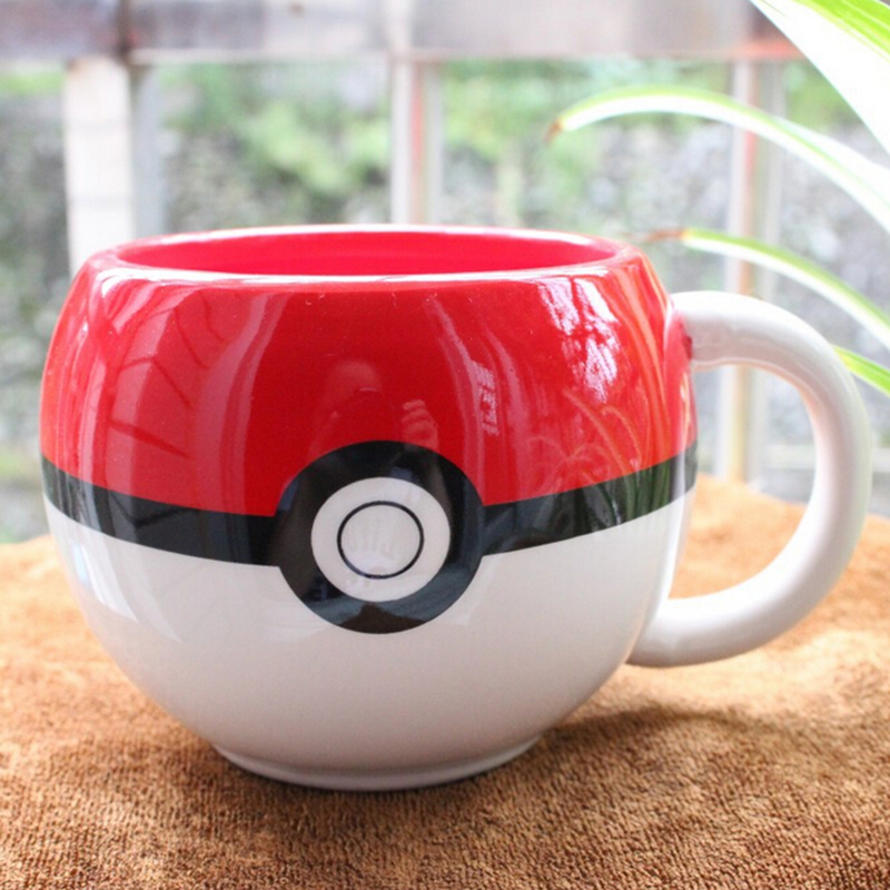 Cute Japanese Anime Game Pokemon Poke Ball Cosplay Ceramic coffee mug milk tea breakfast cartoon cup with Gift Box drinkware(China (Mainland))