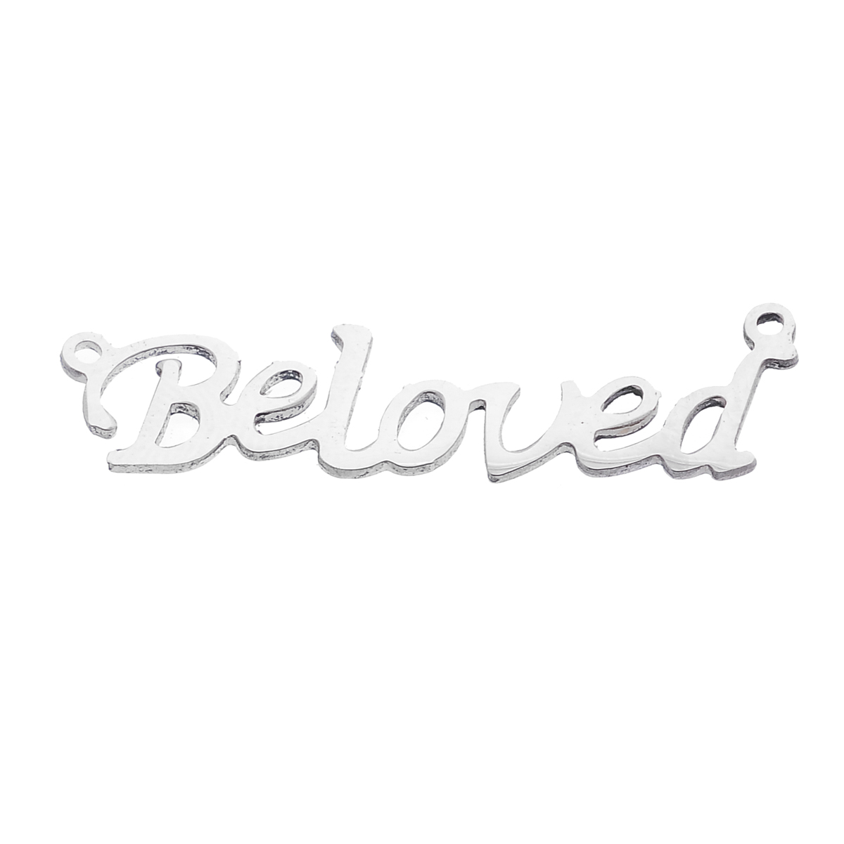 """Stainless Steel Connectors Findings Letter Silver Tone Message """" Beloved """" 40mm(1 5/8"""") x 11mm( 3/8""""),1 Piece 2015 new(China (Mainland))"""