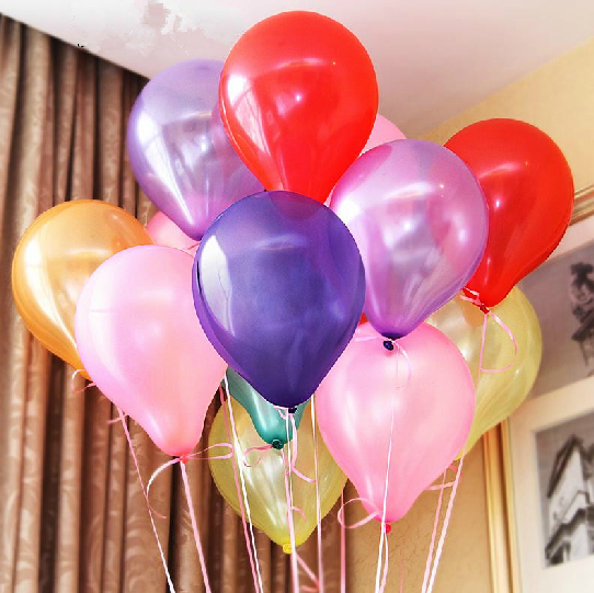 New 10pcs/lot 10inch 1.2g/pcs Latex Balloon Helium Thickening Pearl Celebration Party halloween Birthday wedding decoration(China (Mainland))