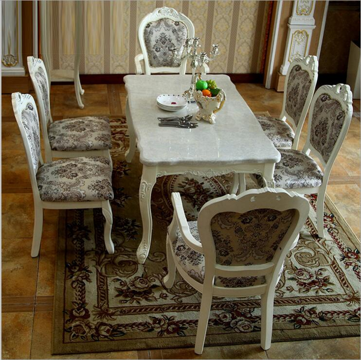 Modern Style Italian Dining Table 100 Solid Wood Italy Style Natural Marble