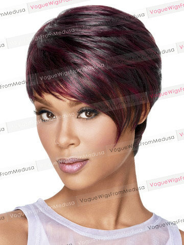 In Stock Top Quality Synthetic Hair Wigs Short Red Wig for Black Women /Perucas/Pelucas(China (Mainland))