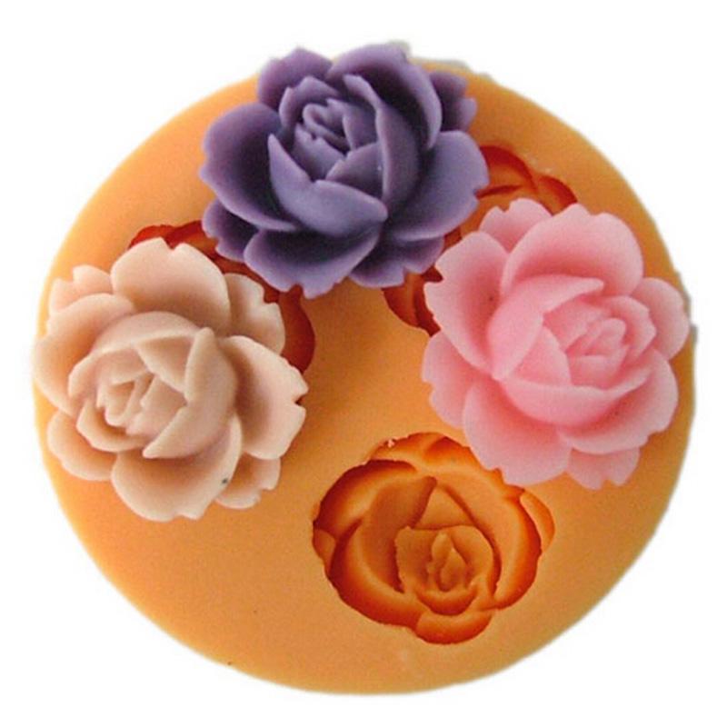 "3D Rose Flower Fondant Cake Chocolate Sugarcraft Mold Cutter Silicone Tools DIY "" Market Advisor - советник по подбору товаров"
