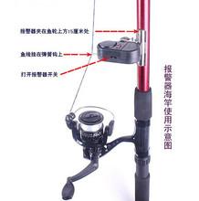 New 2015 Black Electronic LED Light Fish Bite Sound Alarm Bell Clip On Fishing Rod