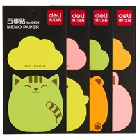 20 Sheets x 2 Pieces Cute Kawaii Animal Bear Rabbit Deli Sticky Notes Post It Paper Memo Pad Office School Supplies Stationery