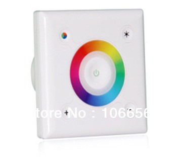 Wall Mounted LED RGB Touch Controller DC 12V or DC 24V 3A *3 channel