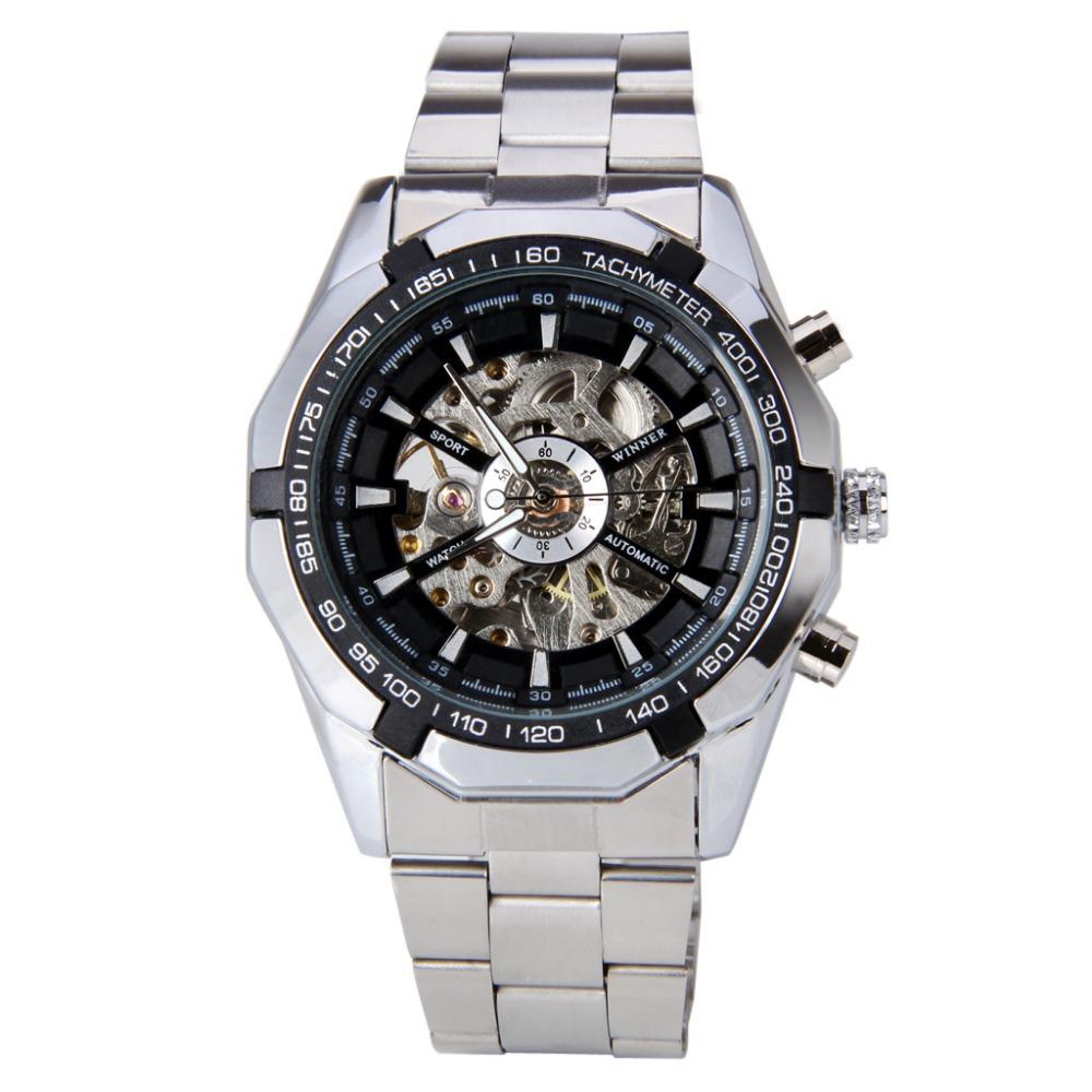 50% OFF ! New Brand WINNER Steampunk Clock Mens Business Dress Wristwatch Mechanical Male Wrist Watch(China (Mainland))