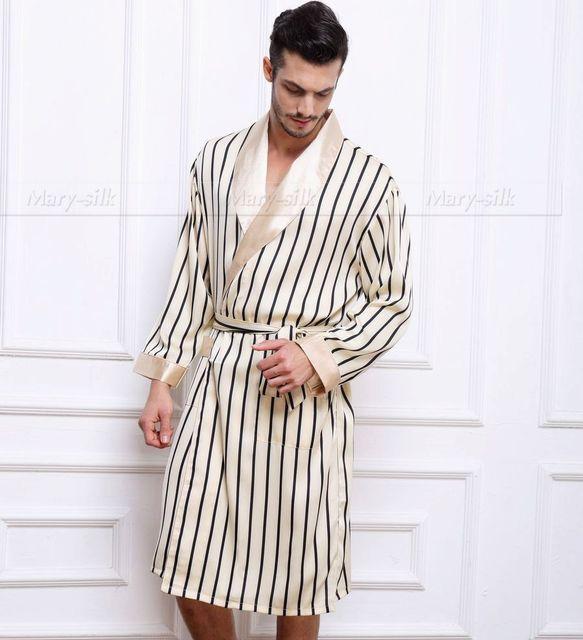 Мужская Шелковый Атлас Пижамы Пижамы пижамы Пижамы Халат Халаты Ночной Рубашке Loungewear ...