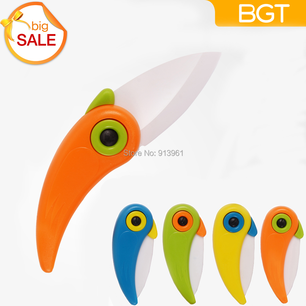 2015 Newst Mini Bird Ceramic Knife Gift Knife Pocket Ceramic Folding Knives Kitchen Fruit Paring Knife With Colourful ABS Handle(China (Mainland))