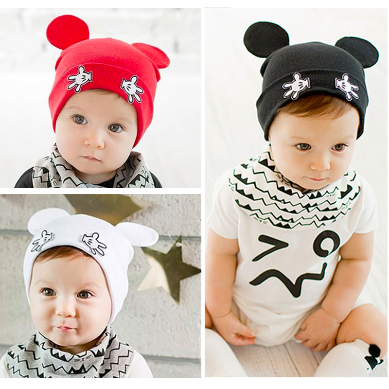 Spring Summer Cartoon Newborn Baby Hats Soft Cute Warm Mouse Children's Caps Infant Baby Girls Boys Beanies Bonnet Enfant(China (Mainland))