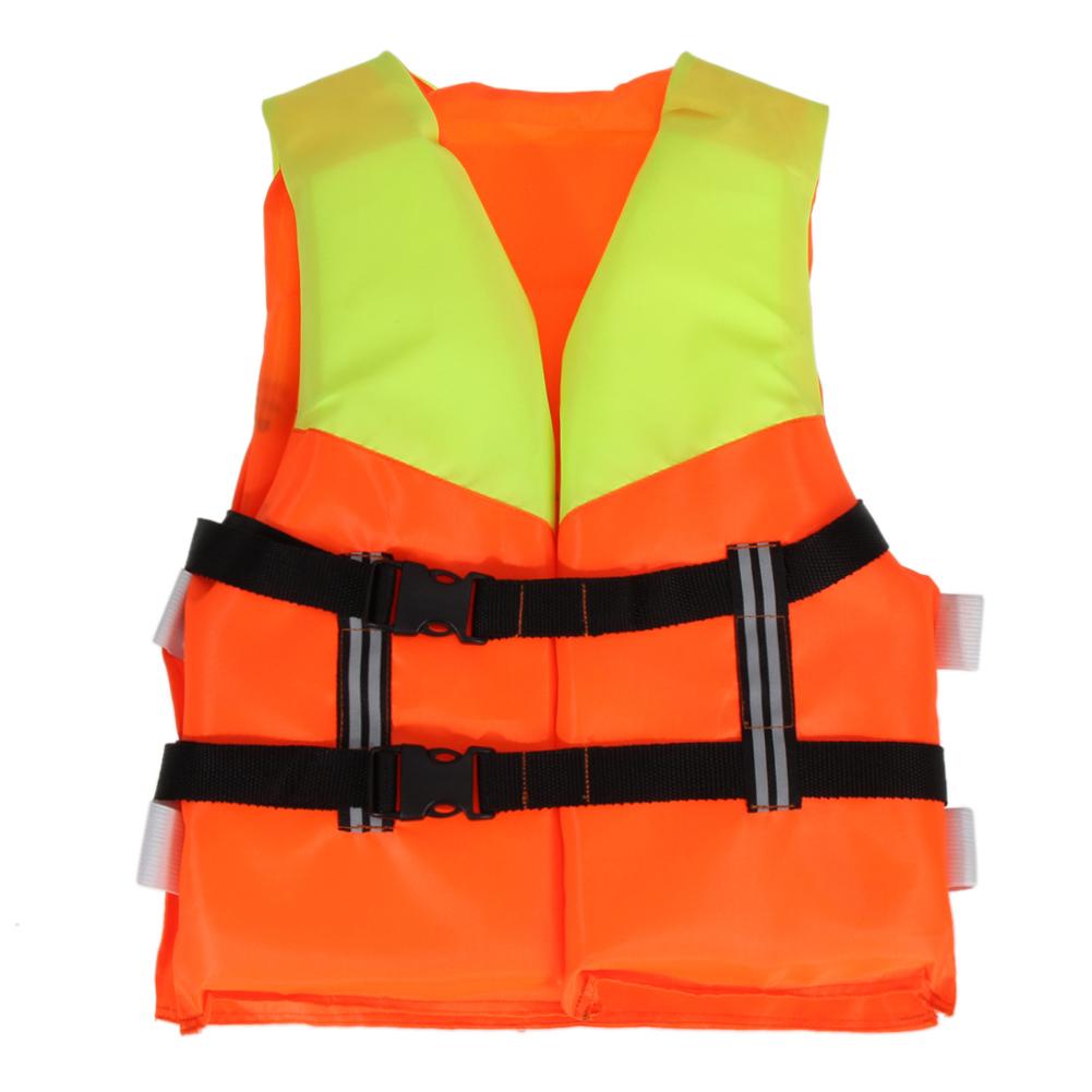 Orange Prevention Flood Fishing Rafting Drift Youth Kids Universal Polyester Life Jacket Swimming Boating Ski Adult Foam Vest(China (Mainland))