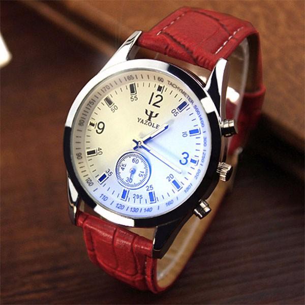 YAZOLE 2016 Quartz Watch Men Top Brand Luxury Leather Wrist Watch Male Clock Quartz-watch Relog Hodinky Panske Ceasuri Barbati
