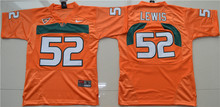 Nike Jersey Youth Miami Hurricanes Ray Lewis 52 College Ice Hockey Jerseys - White S M L XL(China)