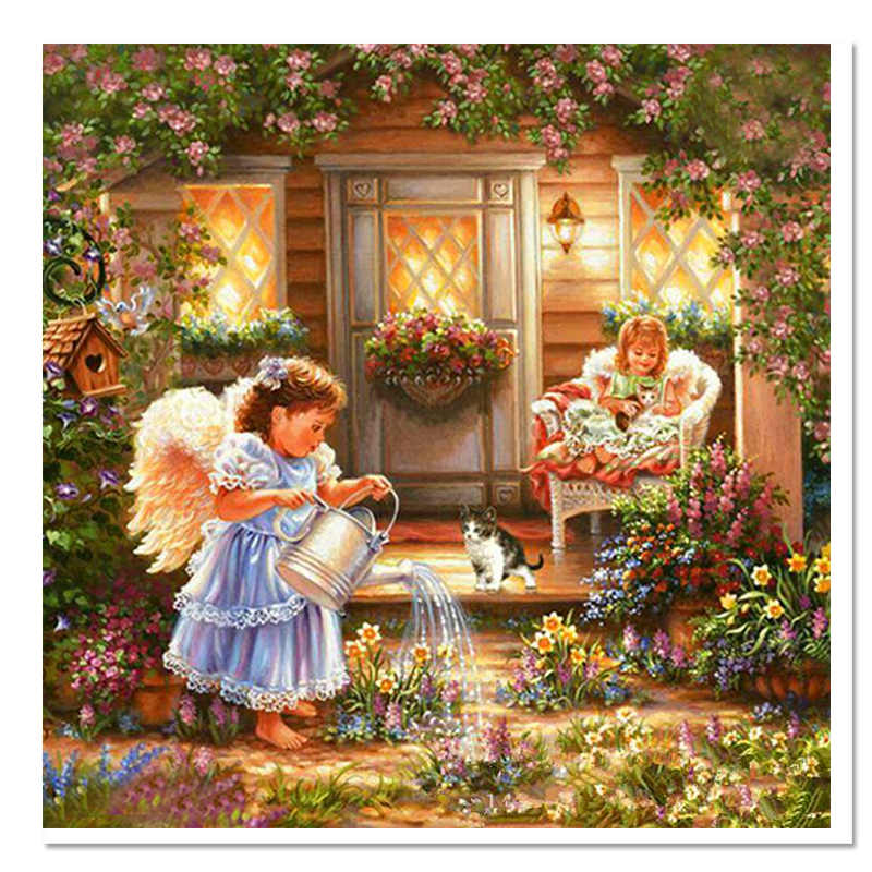 new arrival 2016 diamond embroidered dimensional modern resin Paintings needlework angel drawing home decoration full square(China (Mainland))