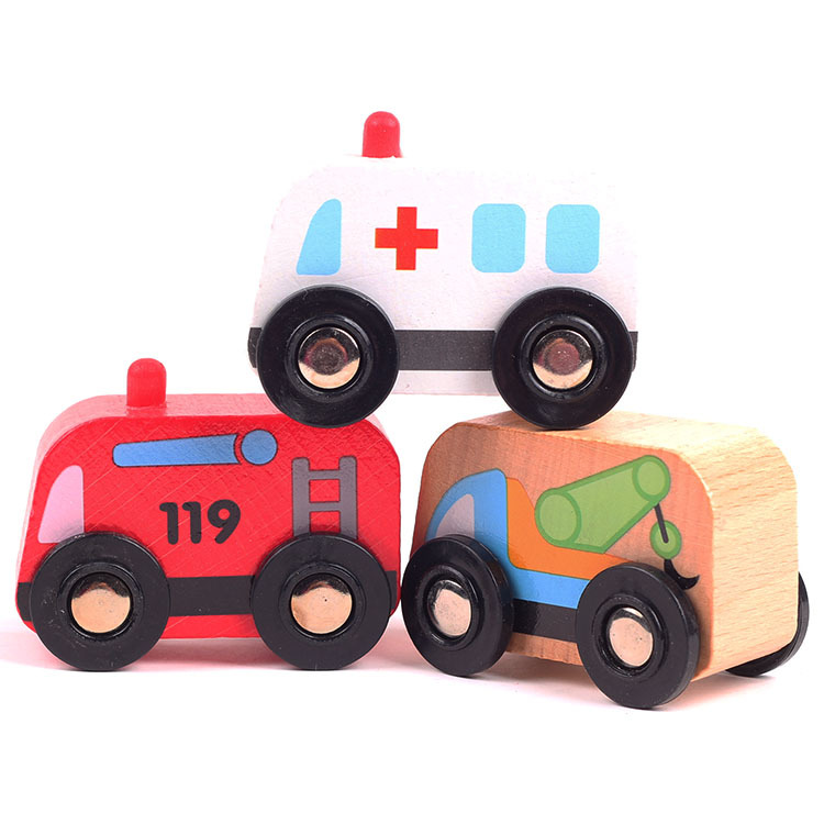 Kids boy's favorite pull back track ambulance vehicle toys/ Children slot bus fire engine and cars for wooden toys(China (Mainland))