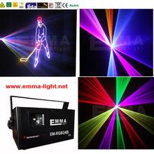 Высокое качество : 1500 МВт 1.5 Вт многоцветный гамма ILDA DMX DJ этапа лазерный луч диско 25KKPS сканер