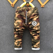 New 2016 winter Teens Jeans For Boy Camouflage Baby Boys Jeans Pants Kids Jean Children's warm pants for boy Cotton trousers(China (Mainland))
