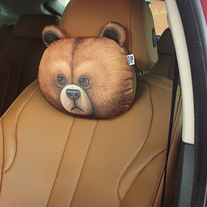 Lovely 3D Animal Shape Cushion Cover Car Pillow Cover Cushion Travelling Office Rest Neck Pillow Cover No Filler 30*22 cm 1670(China (Mainland))