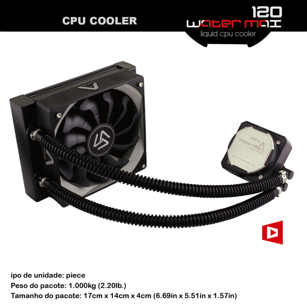 Water cooling radiator 120mm Liquid cooling computer water cooling Fan 1800RPM Aluminum Radiator water cooler cooling block(China (Mainland))