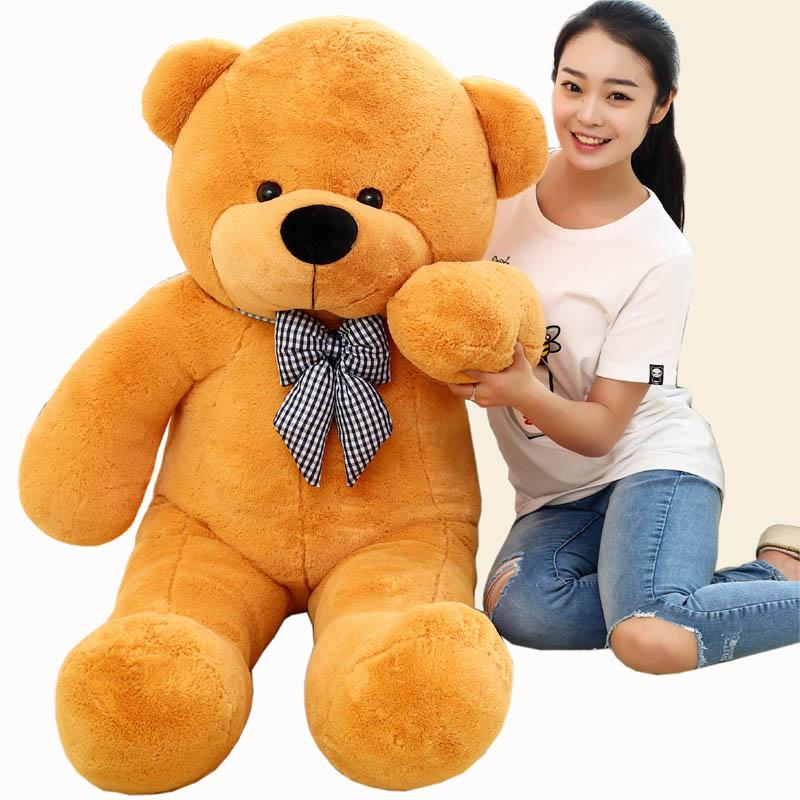 High quality Low price stuffed animals Bear Plush toys large 100/80cm teddy bear 1m/big bear doll /lovers birthday baby gift(China (Mainland))
