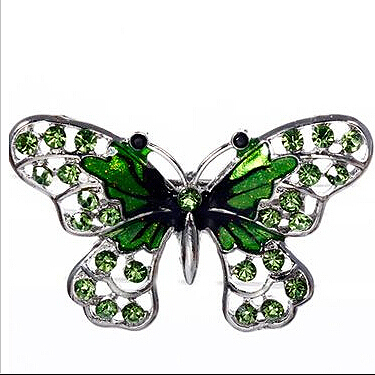 Green cute butterfly brooches small animal Fashion Brooch 2016 hot sale for women YL-81469(China (Mainland))