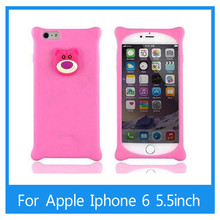 Luxury Anti-knock design 3D cartoon soft silicone case For iphone 6 plus 5.5inch mobile phone