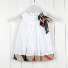 Best Price! baby girl dress 2015 kids plaid summer dress baby girls dresses princess dress children fashion clothing vestidos(China (Mainland))