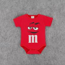 2016 new newborn baby clothing toddler infants cartoon casual baby romper letter m Jumpsuit clothes (China (Mainland))