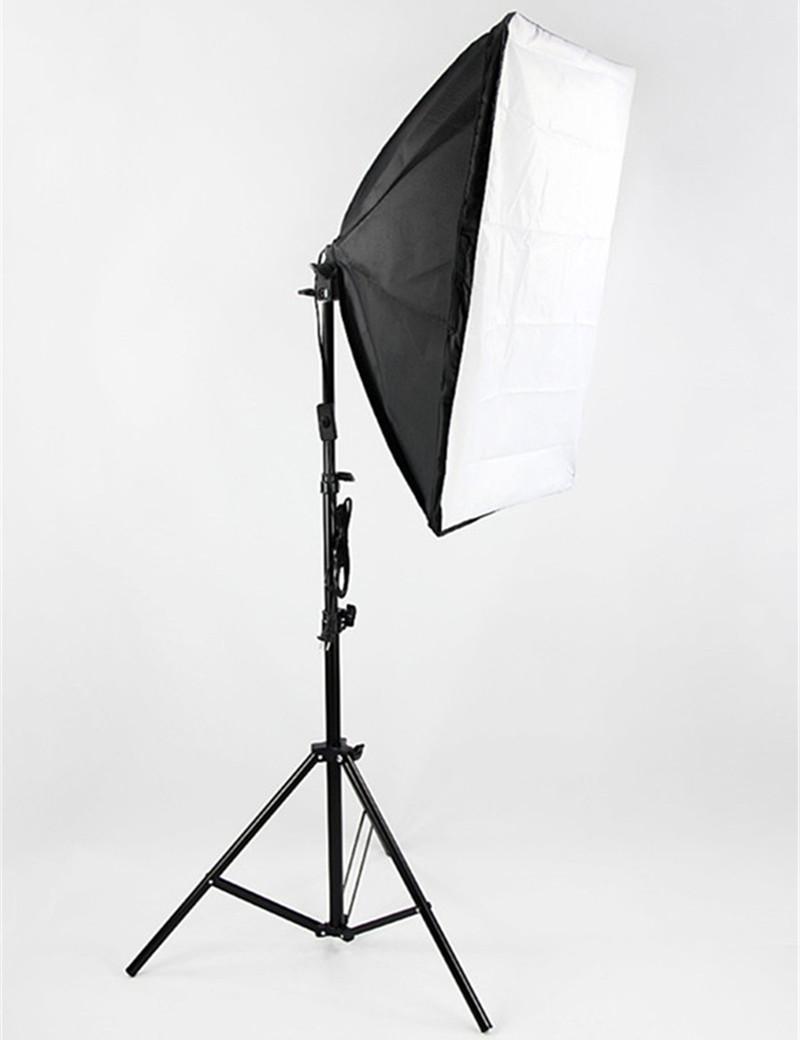 Photography Lighting Kit 2m Studio Light Stand Tripod + 50x70cm Photo Studio Softbox Light Tent with E27 Socket Bulb Holder(China (Mainland))