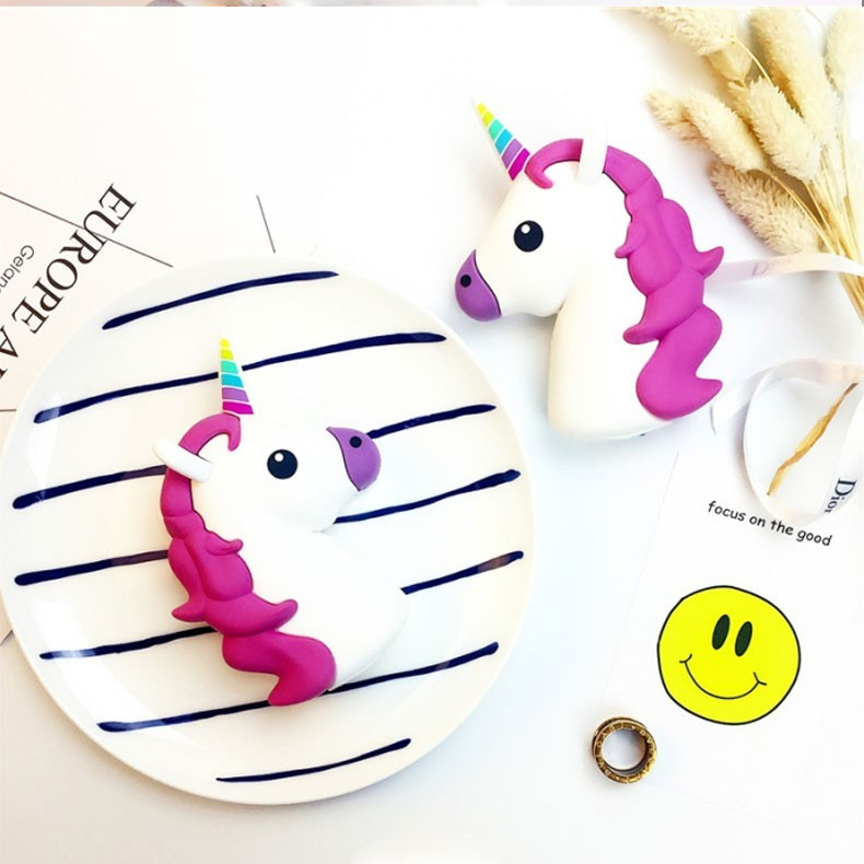 Project GOESTIME the Newest 4000 mah Power Bank Fit Unicorn Funny Cute Emoji PVC Mobile Load Material Cartoon For Mobile Phone
