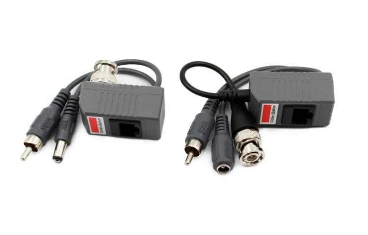 Video Power Audio triple Balun Video CCTV UTP CAT5 RJ45 Balun for camera passive video balun transceiver