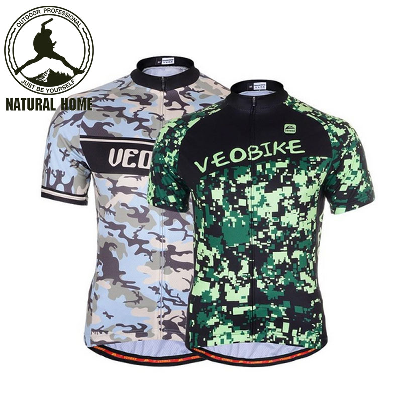 [NaturalHome] Brand Camouflage Ciclismo Summer Wicking Breathable Short-Sleeved Men Women Clothes Quick Drying Cycling Jerseys(China (Mainland))