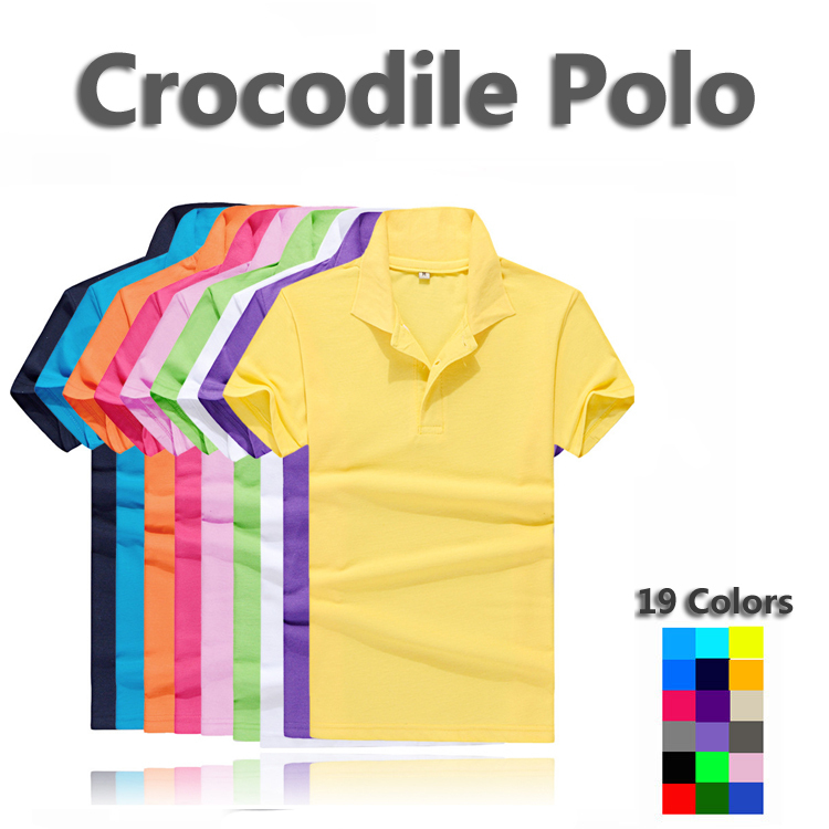 Size S-6XL Crocodile Logo Solid Polo Shirt Camisa Polo For Men Made In France Multicolor White Blue Black Red Green Yellow(China (Mainland))