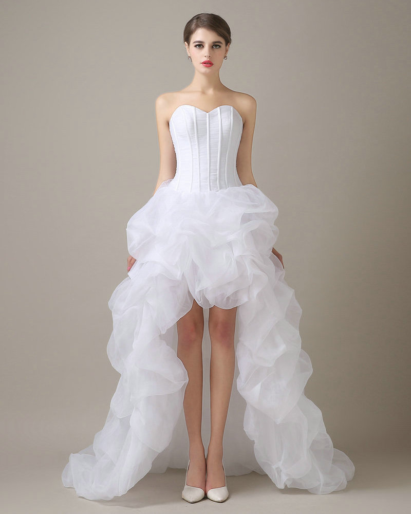 Real model cheap wedding dresses china white organza for White wedding dress cheap
