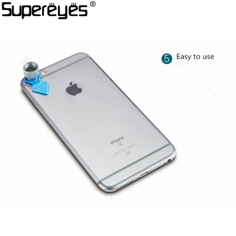 Supereyes 200X Smartphone Microscope Camera Lens Portable Magnifier for iPhone Android Phone Tablet Mini Size Focus Camera Lens(China (Mainland))