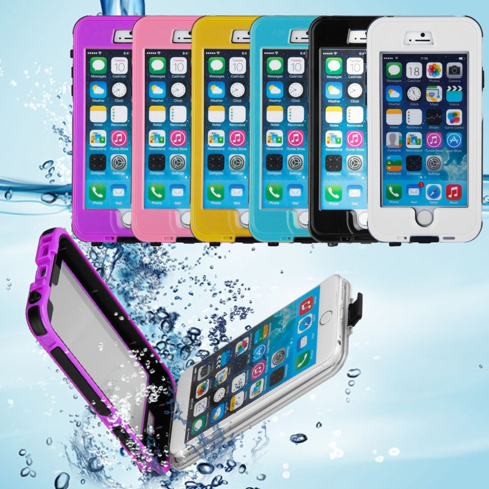 "Waterproof Shockproof Dirtproof Case Cover For iphone 6 PLUS 5.5"" Black / White / Pink(China (Mainland))"