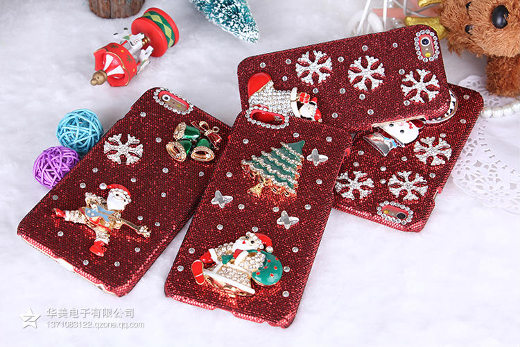 Christmas Case Samsung Galaxy S7 edge S6 Plus S5 S4 S3 Note 7 5 4 3 Cover Santa Lucky Gift Cute Lovely Light Hard - D-Maos Technology store