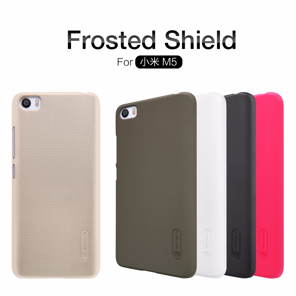 xiaomi mi5 Case xiaomi mi5 cover NILLKIN Super Frosted Shield hard back cover case with free screen protector and Retail package(China (Mainland))