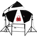 Adearstudio NO00DC 4 Light softbox shooting Table photo studio kit softbox lighting kit without light blub